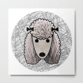 Poodle Dog Metal Print