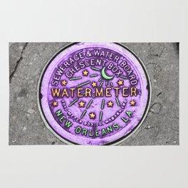 New Orleans Mardi Gras NOLA Water Meter Rug