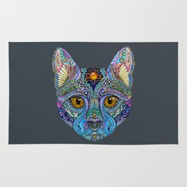 Mystic Psychedelic Cat Rug