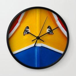 Maltese Boat - Luzzu Colours  Wall Clock