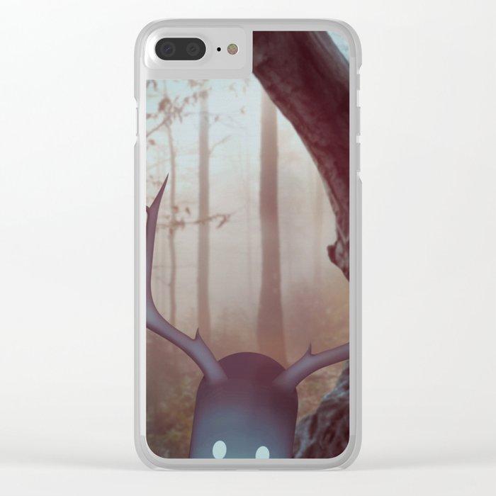 u o m o n e r o Clear iPhone Case