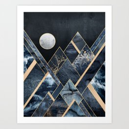 Stormy Mountains Art Print