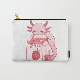 Axolotl Stawberry Milk Carry-All Pouch