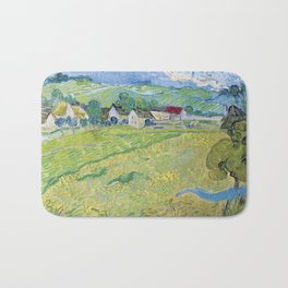 """Les Vessenots"" in Auvers by Vincent van Gogh Bath Mat"