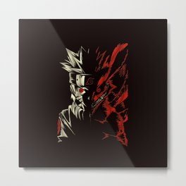 Naruto Transformation Metal Print