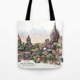 Sunset over San Miguel de Allende Tote Bag