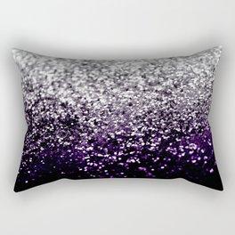 Dark Night Purple Black Silver Glitter #1 #shiny #decor #art #society6 Rectangular Pillow