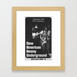 New American Heavy Underground Framed Art Print