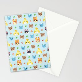 Animal Crossing - Blue Stationery Cards