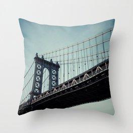 Moody Manhattan Throw Pillow
