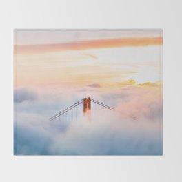 Golden Gate Bridge at Sunrise from Hawk Hill - San Francisco, California Throw Blanket