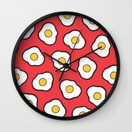 Fried Eggs Pattern Wall Clock
