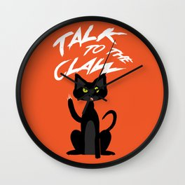 Talk to the Claw Wall Clock