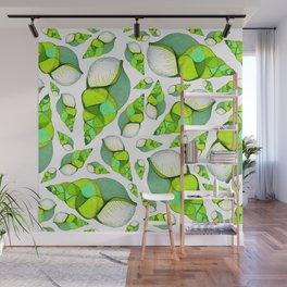 Green shells Wall Mural