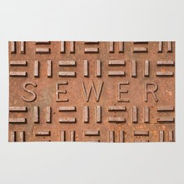 Sewer Grate Close-up Rug