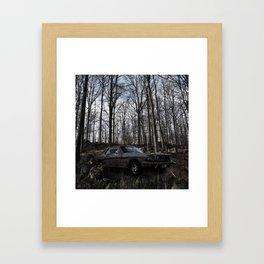 Car in the Woods Framed Art Print