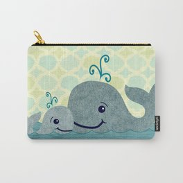 Whale Mom and Baby Carry-All Pouch
