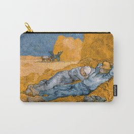 "Vincent van Gogh - Noon Rest From Work (A ""Copy"" of a Jean-François Millet Work) Carry-All Pouch"