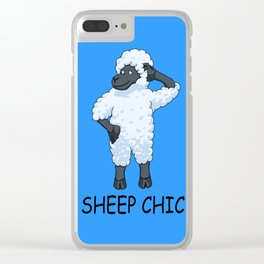 Sheep Chic Clear iPhone Case