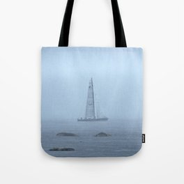 Sailing through the Fog Tote Bag