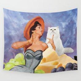 aperitivo con gatto Wall Tapestry