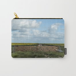 Sunflowers road towards the sea. Carry-All Pouch