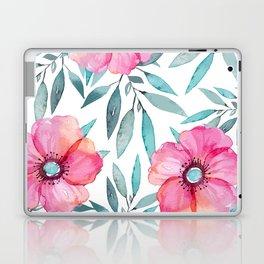 Pink Garden Flowers Laptop & iPad Skin