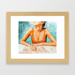 Mi Bebida Por Favor #painting #summer Framed Art Print