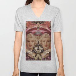 Marilyn Collage Unisex V-Neck