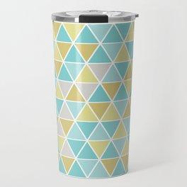 Triangulation (blue and green) Travel Mug