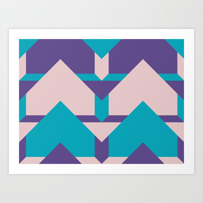 Glow Way #society6 #glow #pattern Art Print by Designdn PRN8713512