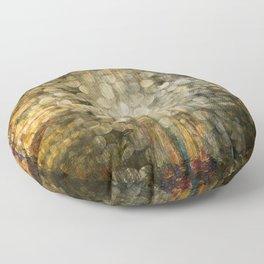 """Abstract golden river pebbles"" Floor Pillow"
