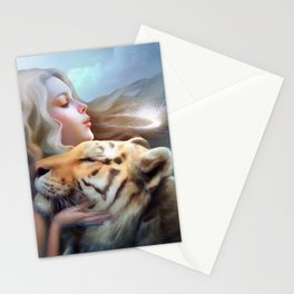 Angel of Tigers Stationery Cards