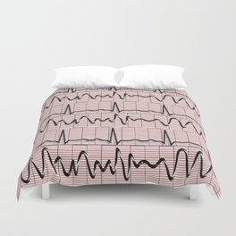 Cardiac Rhythm Strips EKG Duvet Cover