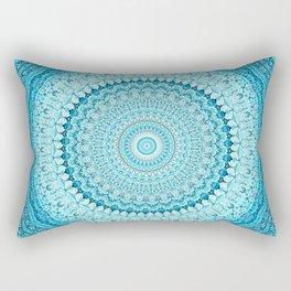 Coastal Spray Mandala Rectangular Pillow