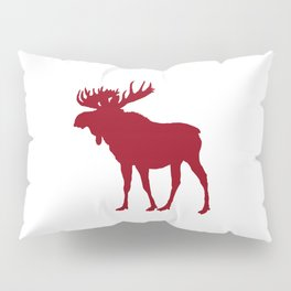 Moose: Rustic Red Pillow Sham