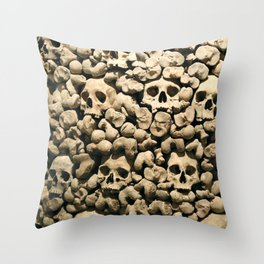 Wall of Remains Throw Pillow
