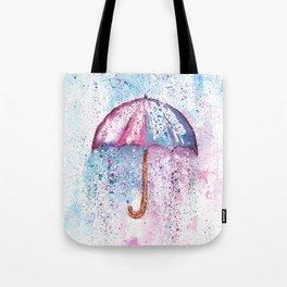 Umbrella Watercolor Painting Tote Bag