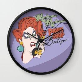 Madame Medusa's Pawn Shop Wall Clock