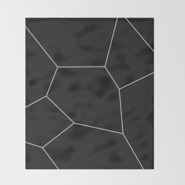 MNML BRKN B&W Throw Blanket