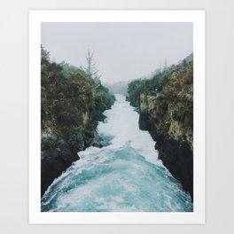 Huka Falls Art Print