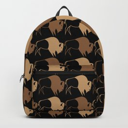 Native American Buffalo Running Backpack