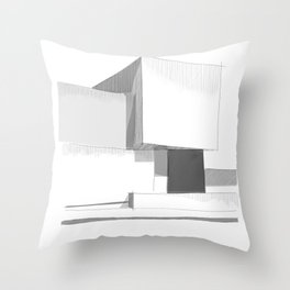 Cubic house No.3 - minimalist architecture Throw Pillow