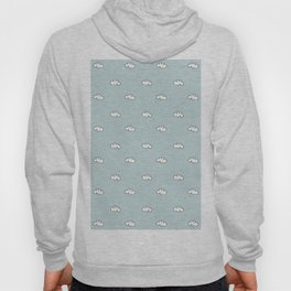 Blue background with small white clouds Hoody