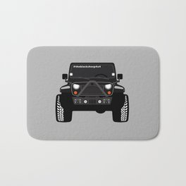 [JEEP] BLACK +GREY BG Bath Mat