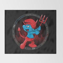 The Little Blue Devil Throw Blanket