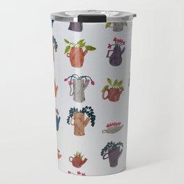 Tea Pots and Cute Plants Travel Mug