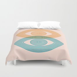 Abstraction_EYES_Minimalism_POP_ART Duvet Cover