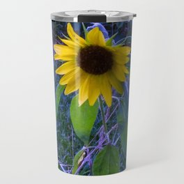 Blue Sunflower Travel Mug