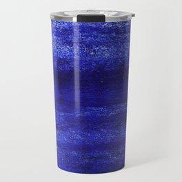 V24 New Blue Calm Traditional Moroccan Carpet Texture. Travel Mug